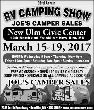 23rd Annual RV Camping Show