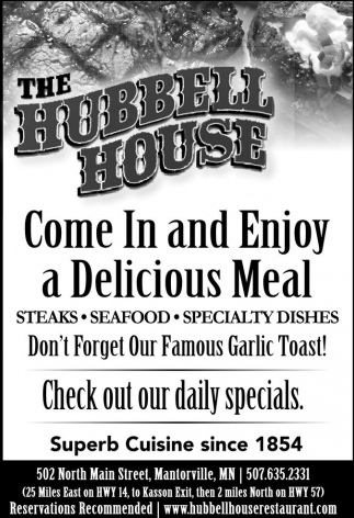 Come In and Enjoy a Delicious Meal
