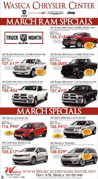 March Ram Specials