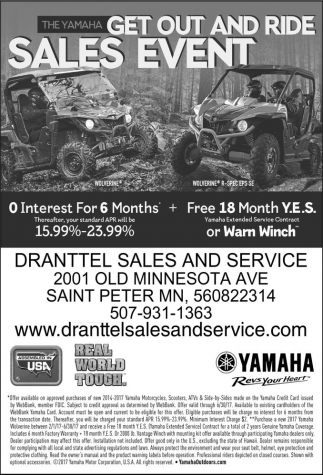 The Yamaha Get Out and Ride Sales Event