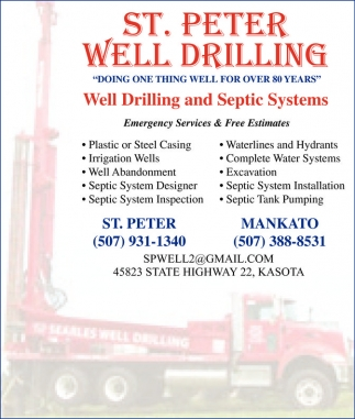 Well Drilling and Septic Systems