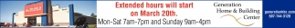 Extended hours will start on March 20th