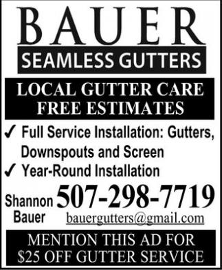 Local Gutter Care - Free Estimates
