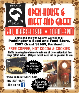 Open House & Meet and Greet, Rescue 55021, Faribault, MN
