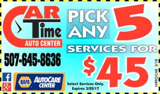 Pick Any Services for $45