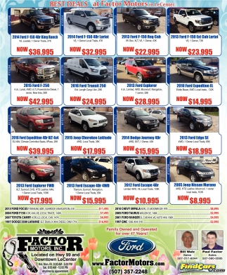 Best Deals at Factor Motors in Le Center