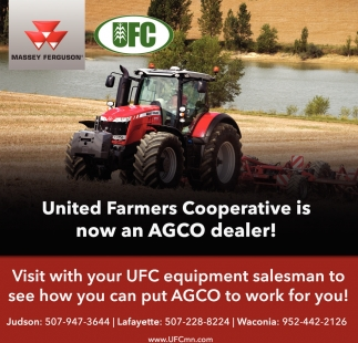 United Farmers Cooperative is now an AGCO dealer!