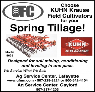 Choose KUHN Krause Field Cultivators for your Spring Tillage!