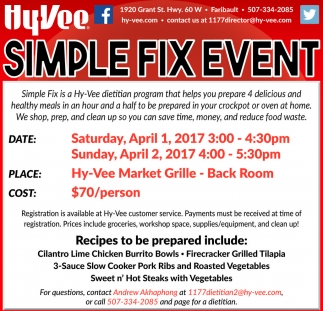 Simple Fix Event