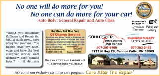 Ask about our exclusive customer care program: Care After The Repair