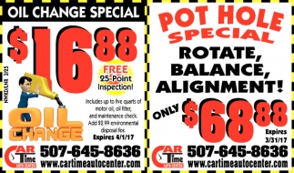 Rotate, Balance, Alignment Only $68,88