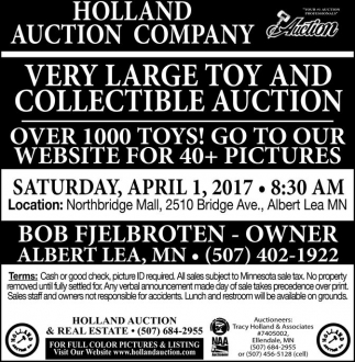 Very Large Toy and Collectible Auction