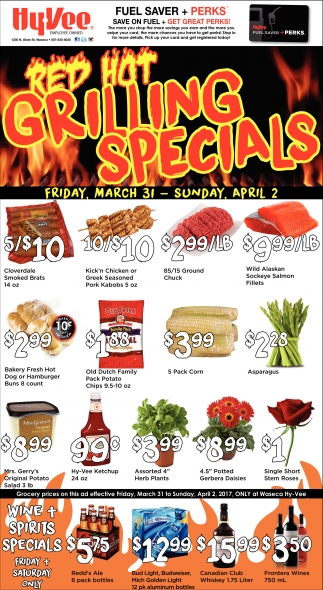 Red Hot Grilling Specials