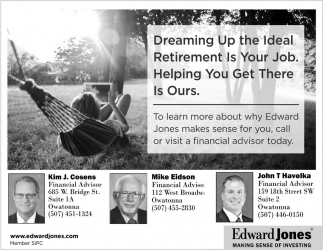 Dreaming Up the Ideal Retirement Is Your Job. Helping You Get There Is Ours., Edward Jones, Northfield, MN