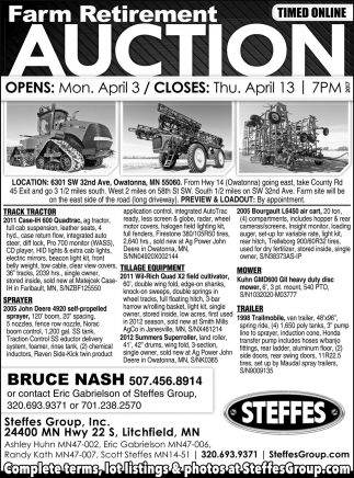 Ads For Steffes Group in Southern Minn