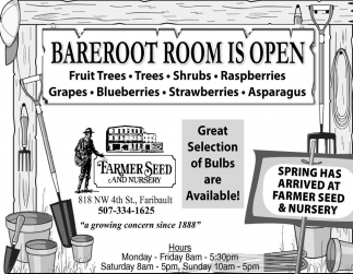 Bareroot Room is Open