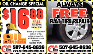 Always FREE Flat Tire Repair