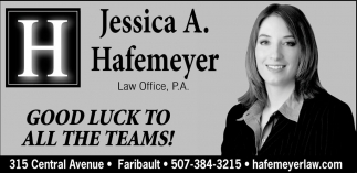 Ads For Hafemeyer Law Office in Southern Minn