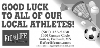 Good Luck To All of Our Local Athletes!