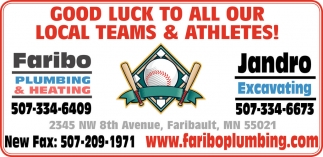 Good Luck to all our Local Teams & Athletes!