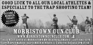 Good Luck to all our Local Athletes & Especially to the Trap Shooting Team!, Morristown Gun Club