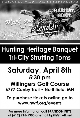 Hunting Heritage Banquet Tri-City Strutting Toms