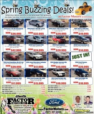 Spring Buzzing Deals!