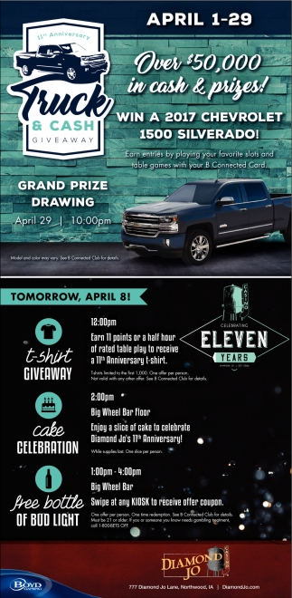 11th Anniversary Truck & Cash Giveaway