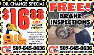 FREE! Brake Inspections