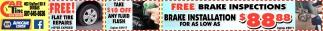 FREE! Brake Inspections