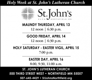 Holy Week at St. John's Lutheran Church