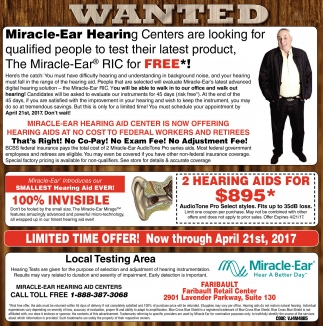 The Miracle-Ear RIC for FREE*