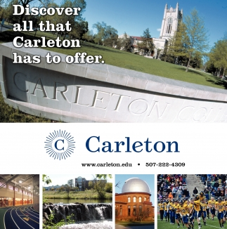 Discover all that Carleton has to affer, Carleton, Northfield, MN