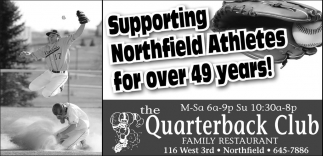Supporting Northfield Athletes for over 49 years!