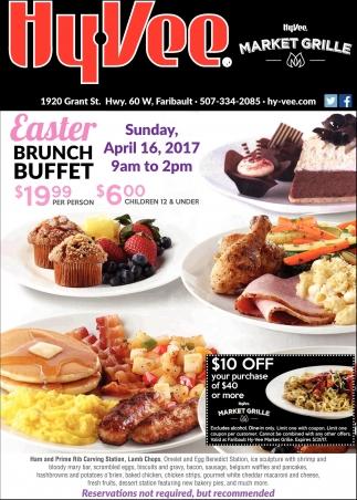 Brunch Buffet, Hy-Vee Market Grille, Faribault, MN