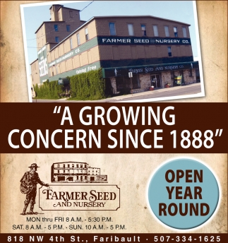 Ads For Farmer Seed and Nursery in Southern Minn