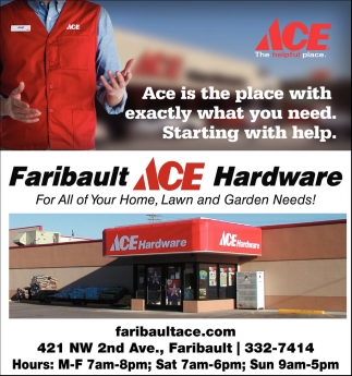 Ads For Faribault Ace Hardware in Southern Minn