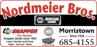Lawn, Garden and Snow Sales - Service - Parts, Nordmeier Bros, Morristown, MN