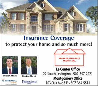 Insurance Coverage, House Of Insurance Agency, Inc, Le Center, MN
