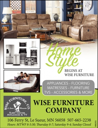 Ads For Wise Furniture In Le Sueur, MN. Home Style ...