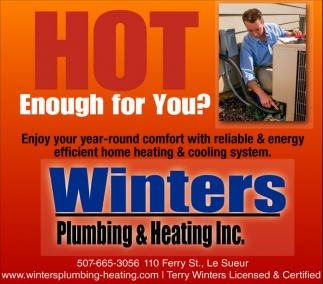 Plumbing - Heating - Air Conditioning, Winters Plumbing and Heating Inc, Le Sueur, MN