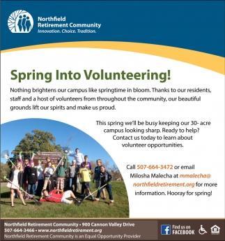 Spring Into Volunteering!