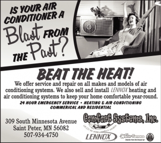 Heating & Air Conditioning, Residential & Commercial, Comfort Systems, Inc., Saint Peter, MN