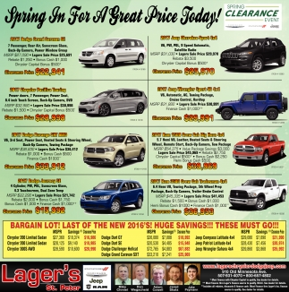 In For A Great Price Today Lagers St Peter Saint Peter MN - Chrysler capital bonus cash