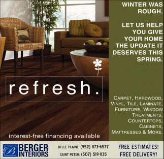berger interiors | carpet - tile - hardwood - vinyl - laminate