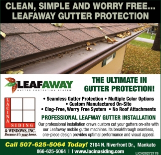 The Ultimate in Gutter Protection!, Lacina Siding and Windows Inc, Mankato, MN