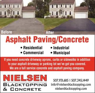 nielsen blacktopping and concrete | asphalt paving / concrete