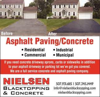 Asphalt Paving / Concrete, Nielsen Blacktopping and Concrete