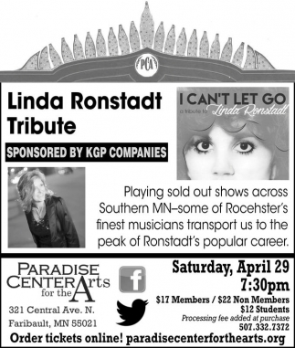 Linda Ronstadt Tribute, Paradise Center for the Arts, Faribault, MN