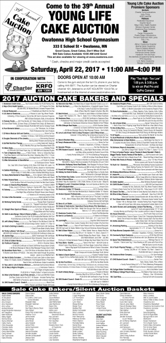 39th Annual Young Life Cake Auction